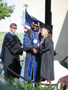 Elizabeth receiving her B.A. degree from CSUB in 2008
